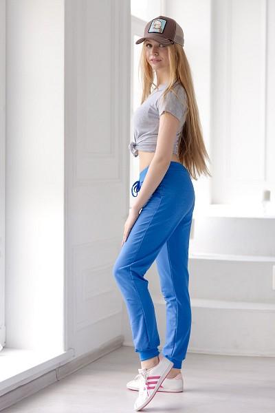 Брюки женские - Баттерфляй голубой - фото 1