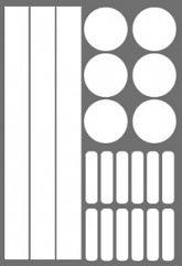 Геометрия светоотражающие стикеры набор №2