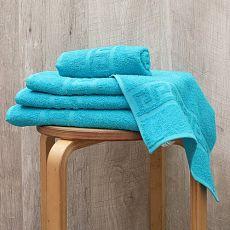 Махровое полотенце Меандр-бирюза 70*140 см. хлопок 100%