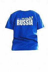 Футболка детская - Россия синий
