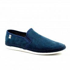 Zapatillas lona con elstico y picado