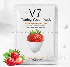 Витаминная маска BIOAQUA из серии V7 с экстрактом клубники