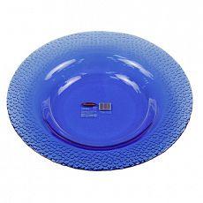 """""""Mosaic Blue"""" Тарелка глубокая стеклянная д210мм, h30мм, синий (Россия)"""