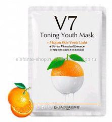 Увлажняющая маска BioAqua V7 Toning Youth Mask