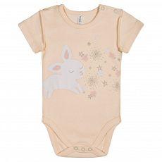 Боди короткий рукав для девочки цвет бледно-розовый ZBG 13432-P0